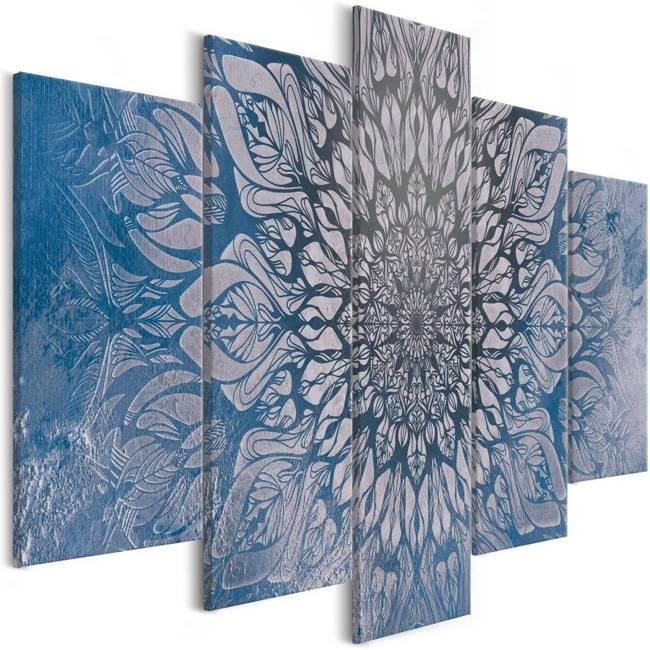 Obraz - Hipnoza (5-częściowy) niebieski szeroki