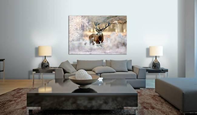Obraz - Jeleń na mrozie