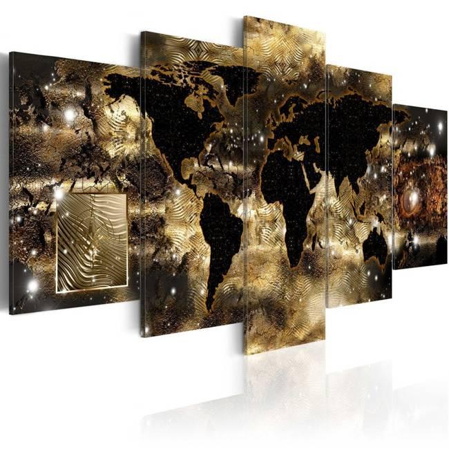 Obraz - Kontynenty z brązu
