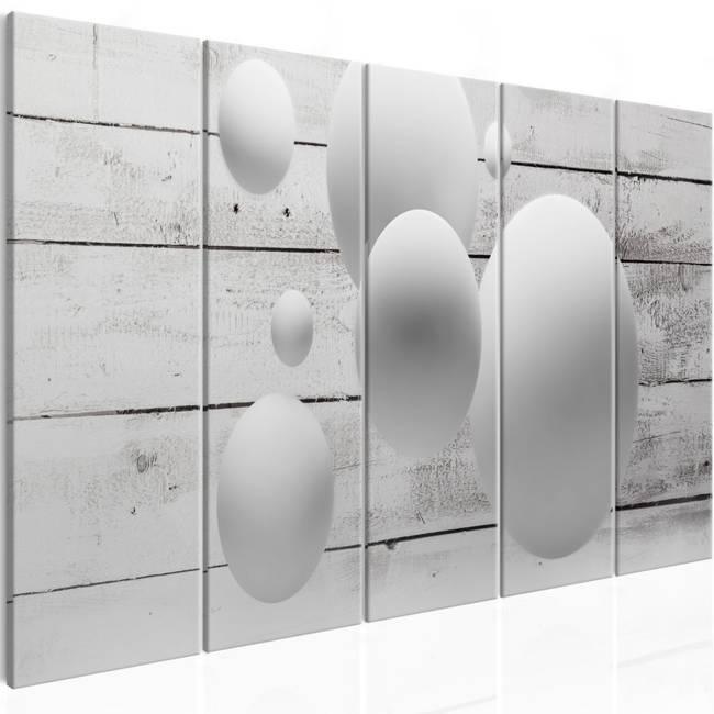 Obraz - Kule i deski (5-częściowy) wąski