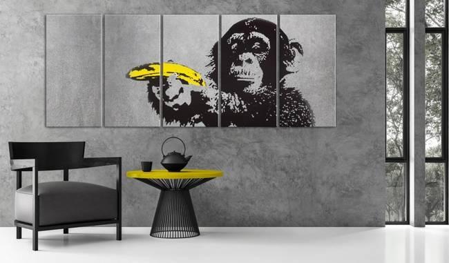 Obraz - Małpa i banan