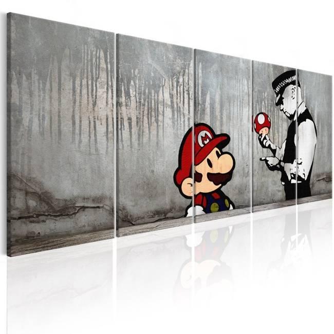 Obraz - Mario Bros na betonie