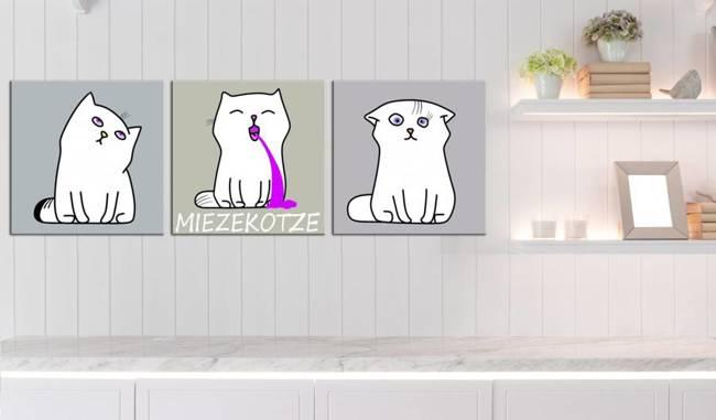 Obraz - Miezekotze: Kocie trio