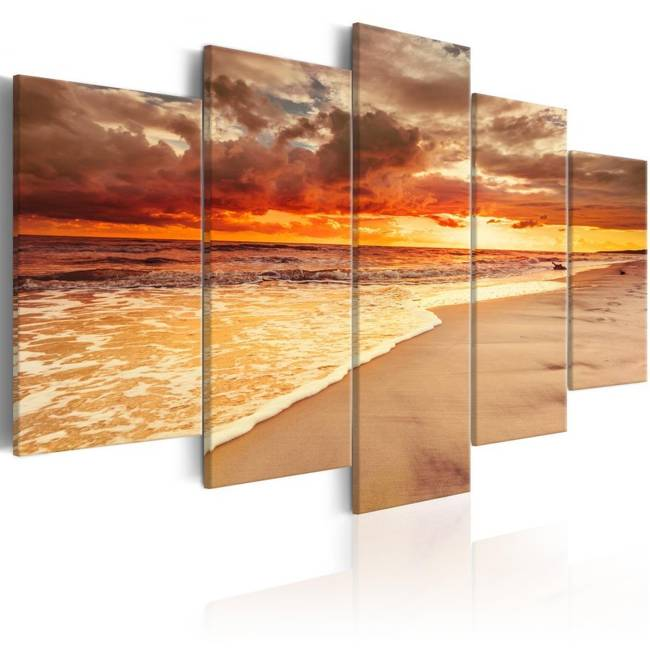Obraz - Morze: Piękny zachód słońca