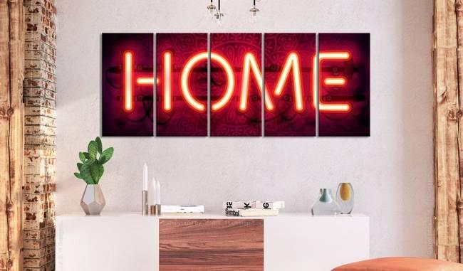 Obraz - Neonowe home