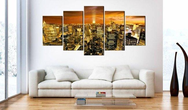Obraz - Nowy Jork: bursztyn