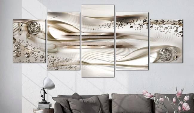 Obraz - Podwodna harfa (5-częściowy) szeroki brązowy