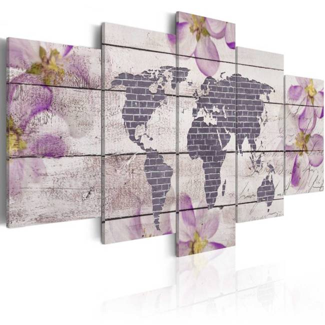 Obraz - Romantyczna mapa świata