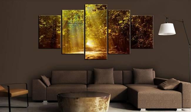 Obraz - Słoneczny las