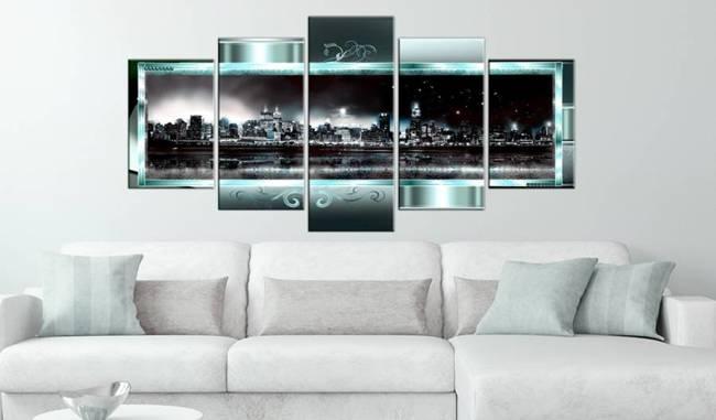 Obraz - Turkusowy Nowy Jork: Gwiaździsta noc