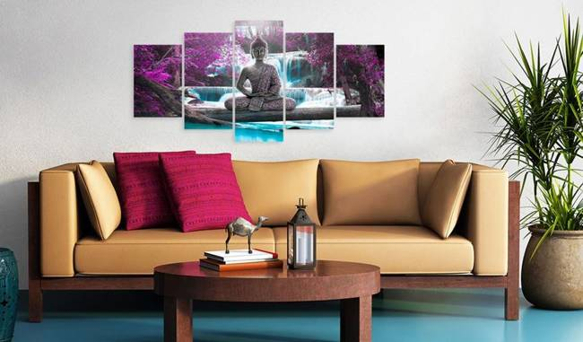Obraz - Wodospad i Budda