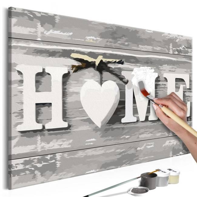 Obraz do samodzielnego malowania - Home (napis)