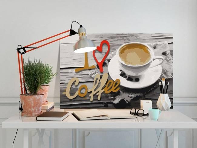 Obraz do samodzielnego malowania - Kocham kawę