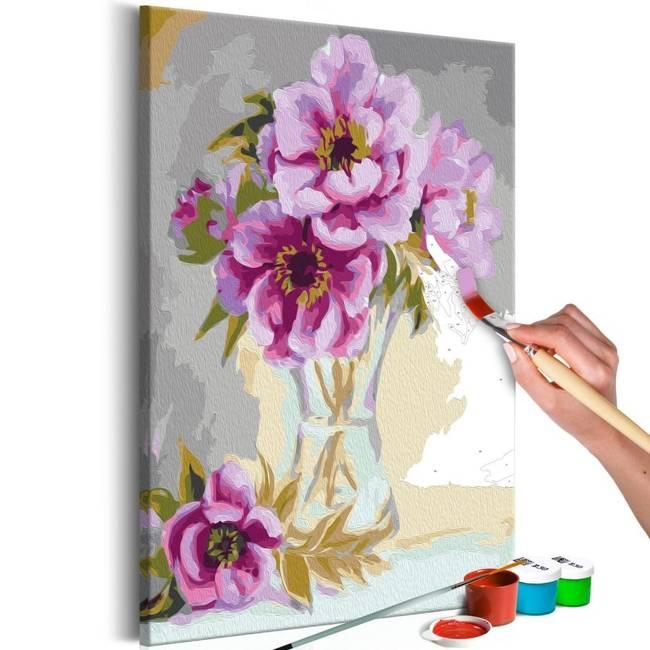 Obraz do samodzielnego malowania - Kwiaty w wazonie