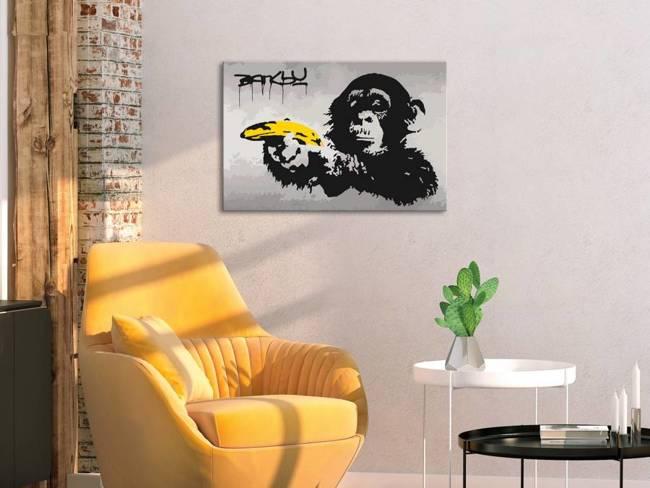 Obraz do samodzielnego malowania - Małpa (Banksy Street Art Graffiti)