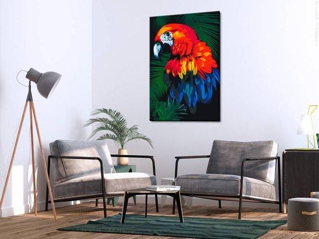 Obraz do samodzielnego malowania - Papuga