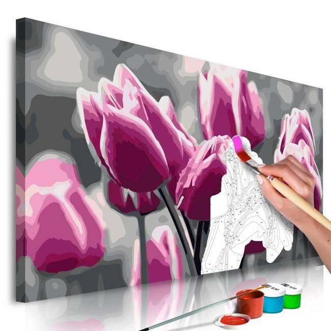Obraz do samodzielnego malowania - Pole tulipanów