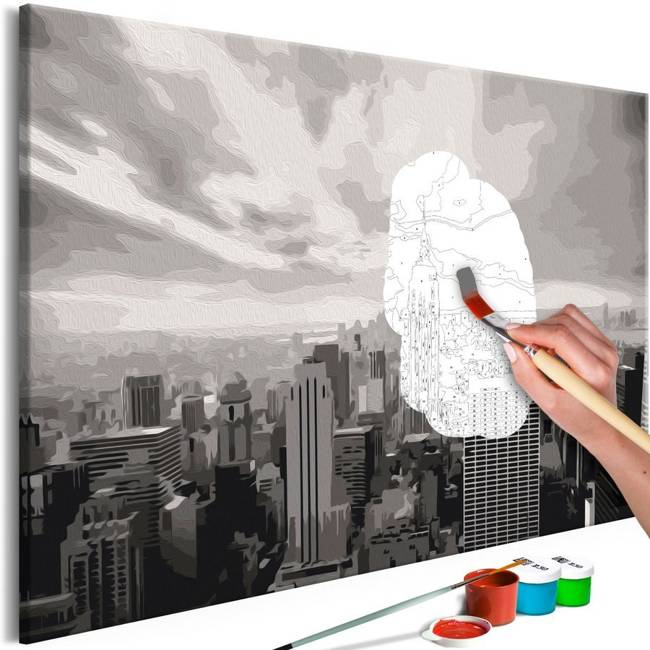 Obraz do samodzielnego malowania - Szary Nowy Jork