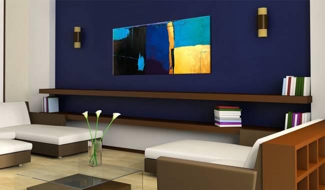 Obraz malowany - Fascynacja błękitem