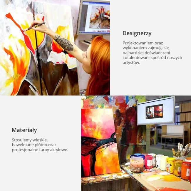 Obraz malowany - Zorza w abstrakcji