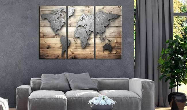 Obraz na korku - Drzwi do świata [Mapa korkowa]