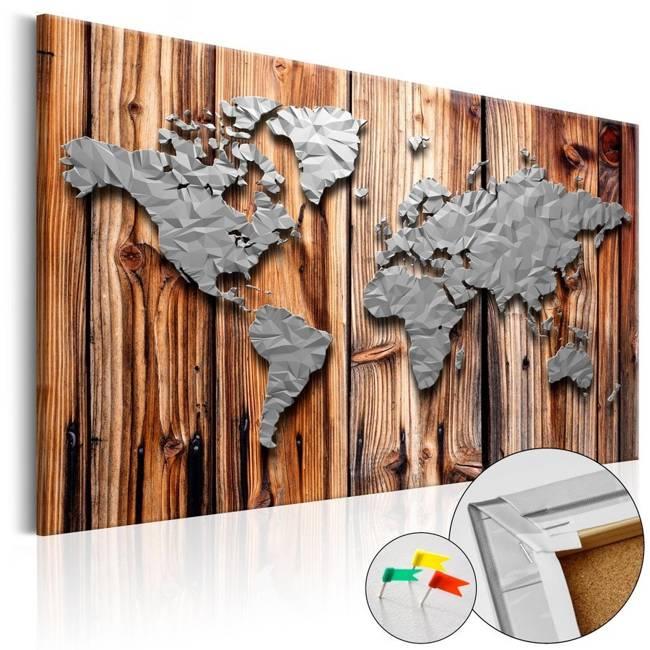 Obraz na korku - Granice nowoczesności [Mapa korkowa]