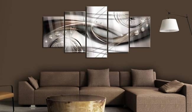 Obraz na szkle akrylowym - Brązowy blask [Glass]