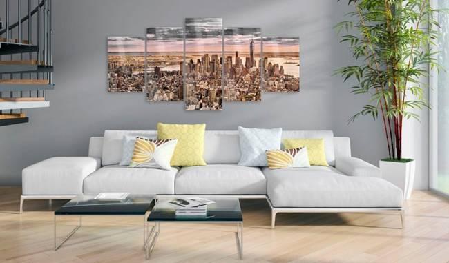 Obraz na szkle akrylowym - Nowy Jork: Poranne niebo [Glass]