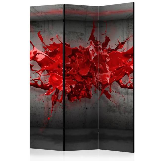 Parawan 3-częściowy - Czerwony kleks [Room Dividers]