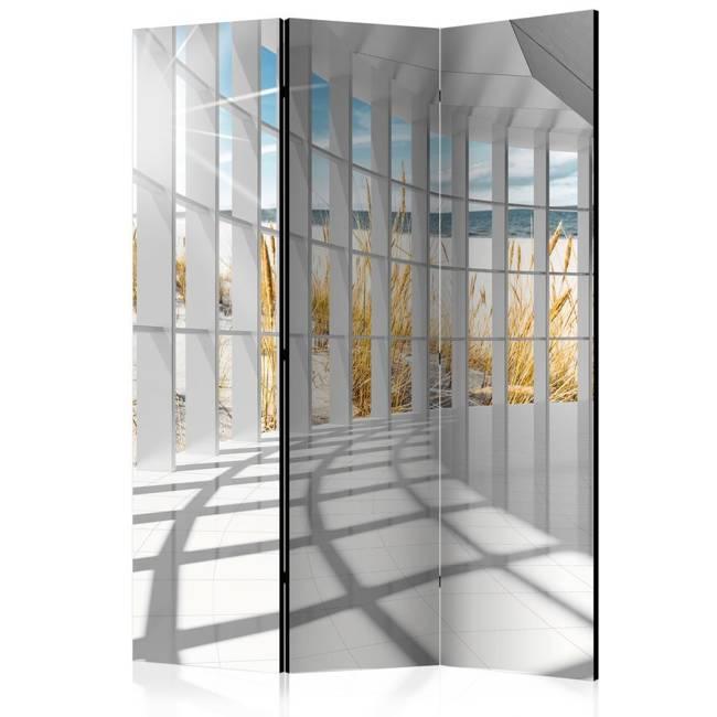Parawan 3-częściowy - Nadmorski bastion [Room Dividers]