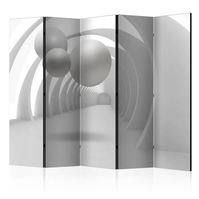 Parawan 5-częściowy - Biały tunel II [Room Dividers]