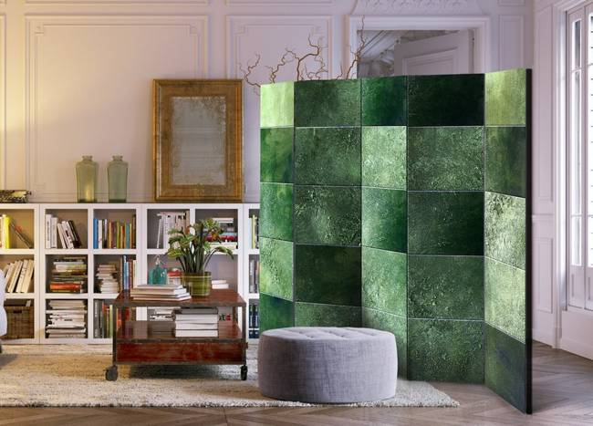 Parawan 5-częściowy - Zielona układanka II [Room Dividers]
