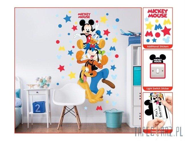 Zestaw naklejek ściennych Walltastic 45781 Myszka Miki