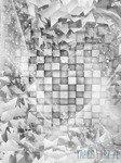 Fototapeta Abstrakcja geometryczna 3d 3028