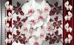 Fototapeta Białe storczyki na kwiecistym wzorze 1287