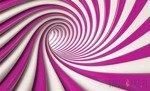 Fototapeta Biało-różowy tunel 3D 2147