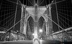 Fototapeta Czarno-biały Brooklyn Bridge 797