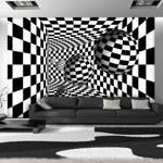 Fototapeta - Czarno-biały korytarz