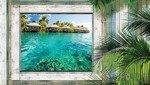 Fototapeta Widok na hawajskie domki 1228