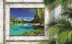 Fototapeta Widok na hawajskie domki 1229