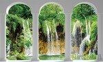 Fototapeta Widok na wodospad przez kolumny 2347