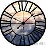 Fototapeta Widok przez zegar na chmury 10109