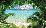 Fototapeta Żaglowiec na turkusowym oceanie 2598