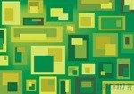 Fototapeta Zielono-żółte prostokąty 3740