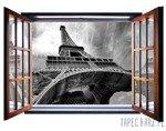 Fototapeta na flizelinie Paryż - Widok przez otwarte okno 10215