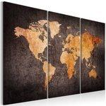 Obraz - Kasztanowa mapa Świata