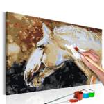 Obraz do samodzielnego malowania - Biały koń