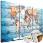 Obraz na korku - Szafirowe podróże [Mapa korkowa]