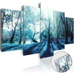 Obraz na szkle akrylowym - Niebieska polanka [Glass]