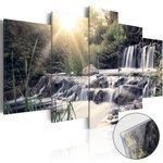 Obraz na szkle akrylowym - Wodospad snów [Glass]